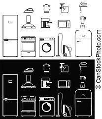 aparatos casa, iconos