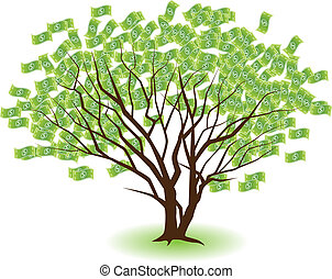 apareado, árboles, dinero
