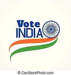 apariencia de tri, bandera, indio, elección, bandera