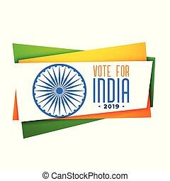 apariencia de tri, india, voto, bandera