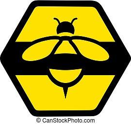 apartamento, ícone, agradável, abelha