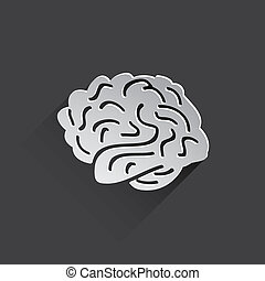 apartamento, ícone,  human, cérebro