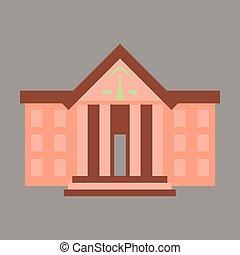 apartamento, ícone, ligado, elegante, fundo, corte judicial