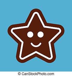 apartamento, ícone, ligado, elegante, fundo, gingerbread, natal