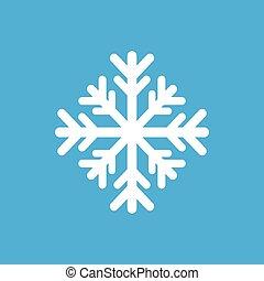 apartamento, ícone, ligado, elegante, fundo, inverno, snowflake