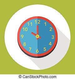 apartamento, ícone, relógio, tempo