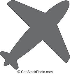 apartamento, 10., viagem, símbolo., eps, avião, icon., design.