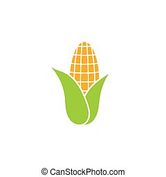 apartamento, alimento, milho, -, isolado, ilustração, experiência., vetorial, branca, heaithy, símbolo, ícone