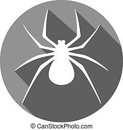 apartamento, aranha, ícone