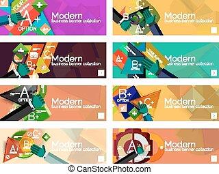 apartamento, bandeiras, infographic, modernos, desenho