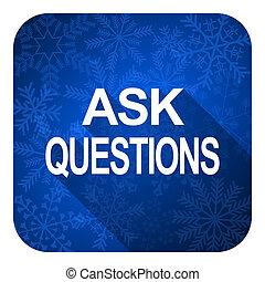 apartamento, botão, perguntar, perguntas, ícone, natal
