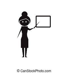 apartamento, branca, pretas, professor, ícone