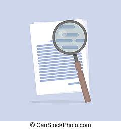 apartamento, busca, ilustração, vetorial, documento, ícone