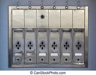 apartamento, caixas postais
