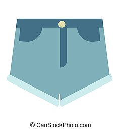 apartamento, calças brim, ilustração, shorts