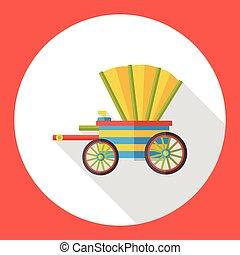 apartamento, cavalo, carruagem, ícone