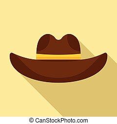apartamento, chapéu, estilo, boiadeiro, ícone