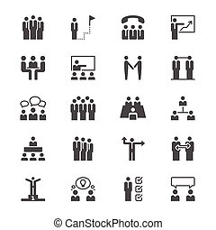 apartamento, comércio pessoas, ícones