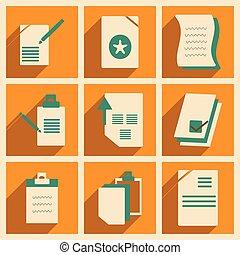 apartamento, com, sombra, conceito, e, móvel, aplicação, documentos