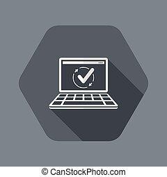 apartamento, -, computador, updates, cheque, mínimo, ícone