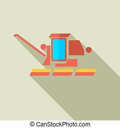apartamento, conceito, modernos, harvester., combinar, vetorial, desenho, illust, ícone