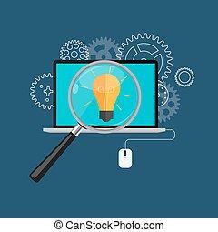 apartamento, conceito,  optimization, teia, Ilustração,  analytics, vetorial,  seo