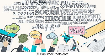 apartamento, conceito, para, social, mídia