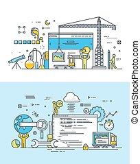 apartamento, conceitos, para, desenvolvimento web