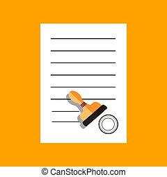 apartamento, concept., ilustração, vetorial, desenho, documento, ícone