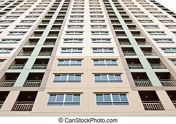 apartamento, condomínio, detalhe edifício