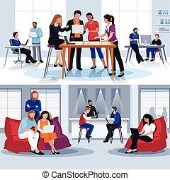 apartamento, coworking, compositions, pessoas