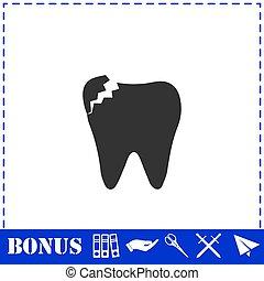 apartamento, dental, problema, ícone