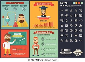 apartamento, desenho, infographic, educação, modelo
