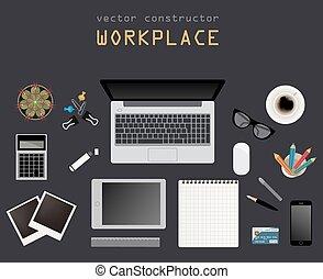 apartamento, desenho, lugar, trabalhando