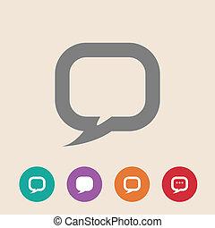 apartamento, diálogo, ícone