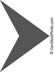 apartamento, direção, símbolo, vetorial, ícone