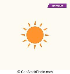 apartamento, ensolarado, amarela, sol brilhante, icon., brilhar