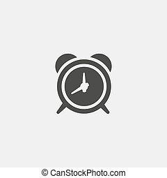 apartamento, eps10, relógio, alarme, ilustração, color., vetorial, desenho, pretas, ícone