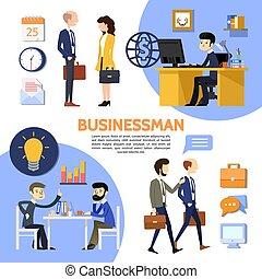 apartamento, escritório negócio, cartaz