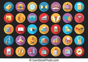 apartamento, estilo, ícones
