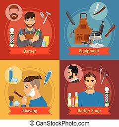 apartamento, estilo, barbeiro, compositions