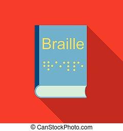 apartamento, estilo, braille, sistema, escrita, cegueira,...
