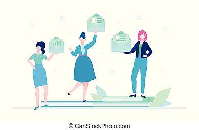 apartamento, estilo, coloridos, -, ilustração, desenho, email