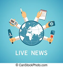 apartamento, estilo, conceito, modernos, viver, vetorial, notícia