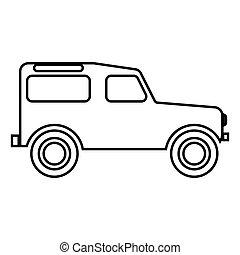 apartamento, estilo, cor, imagem, ilustração, simples, pretas, veículo, estrada, ícone