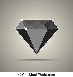 apartamento, estilo, diamante, ícone
