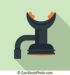 apartamento, estilo, ferramenta, boca, ícone, mergulhar