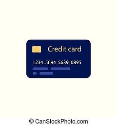 apartamento, estilo, financeiro, comércio eletrônico, símbolo, crédito, -, operação bancária, concept., cartão