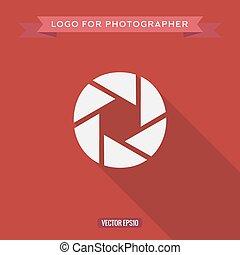 apartamento, estilo, fotógrafo, abstratos, lente, foto, logotipo, ícone