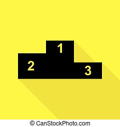 apartamento, estilo, illustration., sofá, sinal amarelo, experiência., pretas, caminho, icon., sombra, ícone